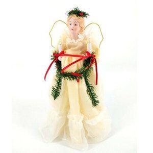 Vintage 10 Light Angel Christmas Tree Topper